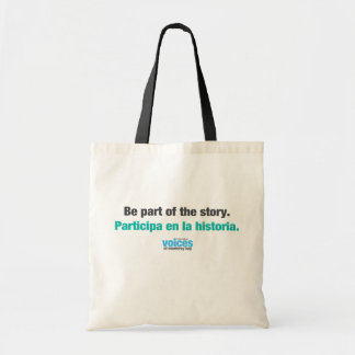 Be part of the story bilingual tote