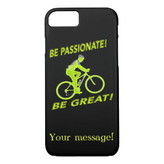 Be Passionate! Be Great! Mountain Biker Green iPhone 8/7 Case
