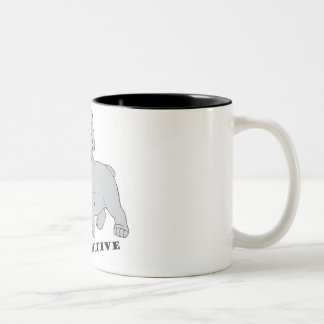 Be Pawsitive Two Tone Coffee Mug