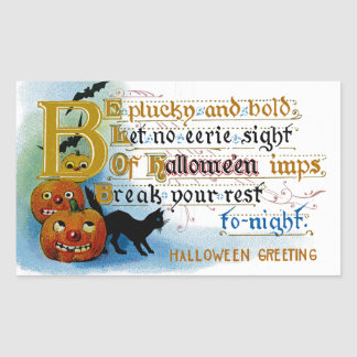 Be Plucky and Bold at Halloween Rectangular Sticker