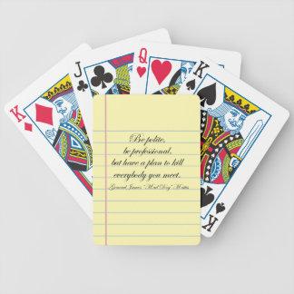 """""""Be Polite"""" Gen. Mad Dog Mattis Quote Poker Deck"""