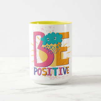 Be Positive Mug With Flowers