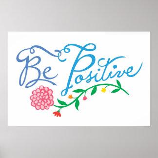Be Positive Print