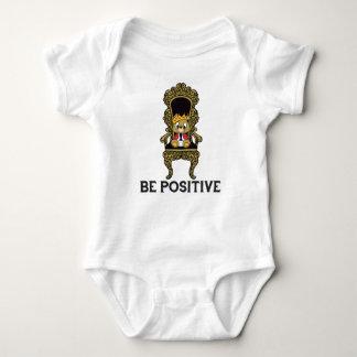 Be Positive Teddy Baby Jersey Bodysuit