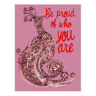 Be Proud of Who You Are Postcard