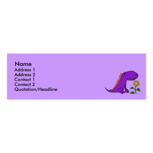 BE- Purple Dragon and Sunflower Business Cardss... Business Card Templates