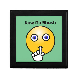 Be Quiet and Go Shush Emoticon Gift Box