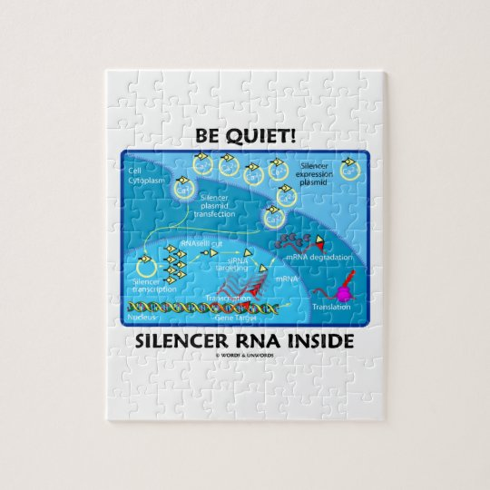 Be Quiet! Silencer RNA Inside (Molecular Biology) Jigsaw Puzzle