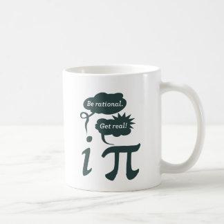 be rational! get real! basic white mug