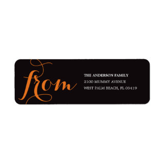 BE SCARY   HALLOWEEN RETURN ADDRESS LABELS