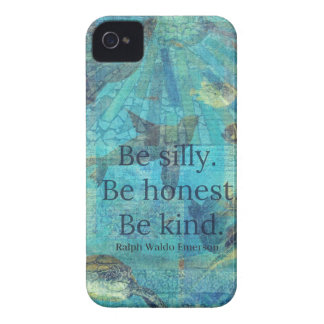 Be silly. Be honest. Be kind quote iPhone 4 Cover