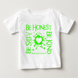 Be Silly Stamp, neon green Tee Shirt