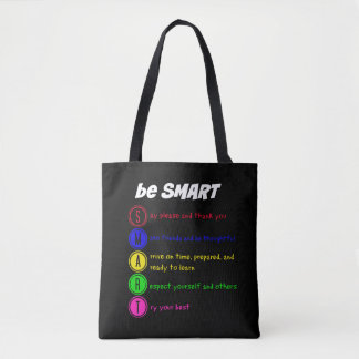 Be smart tote bag