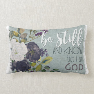 be still and know bible verse cushion throw flower