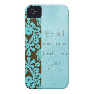 Be Still and Know Bible Verse iPhone 4 Covers