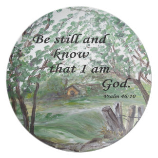 Be  Still and Know Dinner Plate