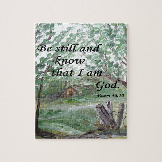 Be Still and Know Jigsaw Puzzle