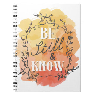 Be Still and Know Notebook