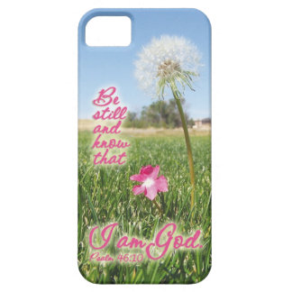 Be Still and Know Psalm 46:10 Bible Verse Quote Barely There iPhone 5 Case