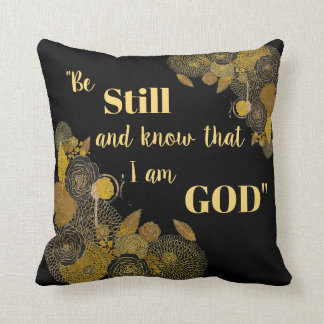 Be Still and Know Scripture Verse Throw Pillow