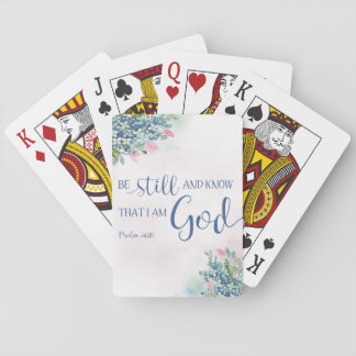 Be Still and Know that I am God, Ps 46:10 Playing Cards