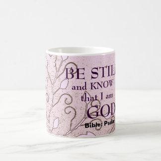 Be Still And Know That I Am God Verse Coffee Mug