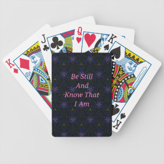 """""""Be Still And Know That I Am"""" Pink Scripture Poker Deck"""