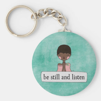Be Still and Listen by Linda Tieu Key Ring