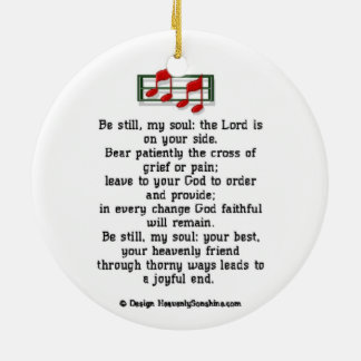 Be Still My Soul Christian Hymn Ceramic Ornament