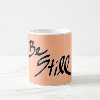 Be Still Peach Sequins Mug