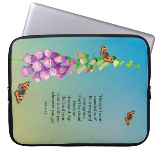 Be strong and courageous don't be afraid. Joshua 1 Laptop Sleeve