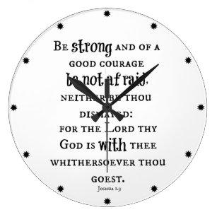 Bible Verse Strong Wall Clocks | Zazzle com au