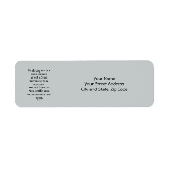 Be Strong Bible Verse Return Address Label