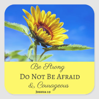 Be Strong & Courageous Sticker