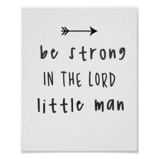 Be Strong In The Lord Poster