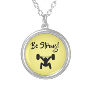 Be Strong Silver Plated Necklace