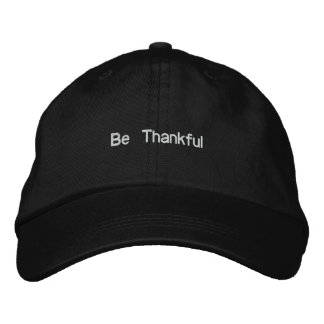 Be Thankful Embroidered Hat