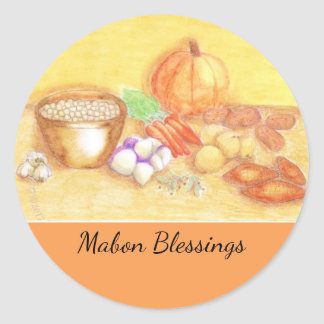 Be Thankful for Vegetables Mabon Harvest Home Classic Round Sticker