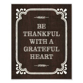 Be Thankful | Thanksgiving Art Print Photo Print