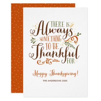 Be Thankful Whimsical Happy Thanksgiving Card