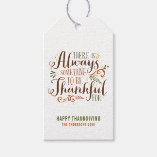 Be Thankful Whimsical Script | Thanksgiving Gift Tags