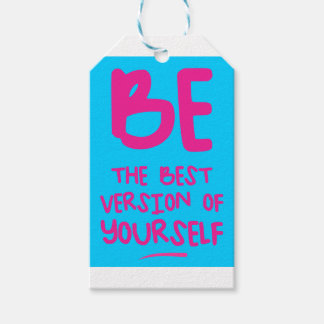 BE THE BEST VERSION OF YOURSELF, blue Gift Tags