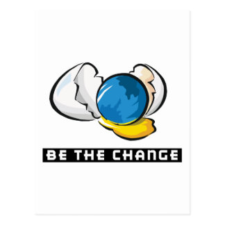 Be The Change Earth Day Postcard