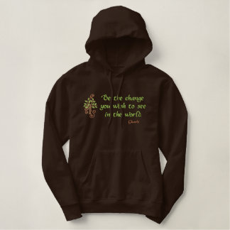 Be the Change embroidered sweatshirt