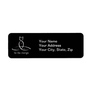 Be The Change - Fancy style text. Return Address Label