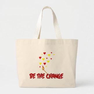 Be The Change Flame Jumbo Tote Bag