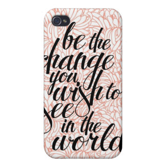 Be the Change iPhone Case iPhone 4 Covers
