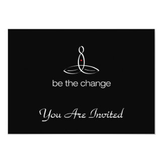 Be The Change - White Regular style 13 Cm X 18 Cm Invitation Card