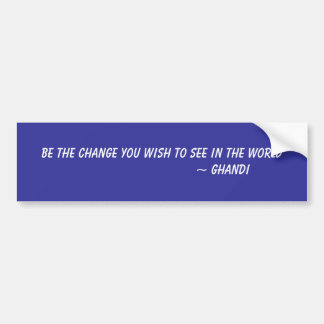Be The Change You Wish To See In The World     ... Bumper Sticker