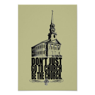 BE the church poster